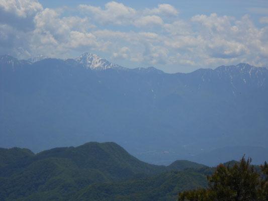 南アルプス・北岳からアサヨ峰