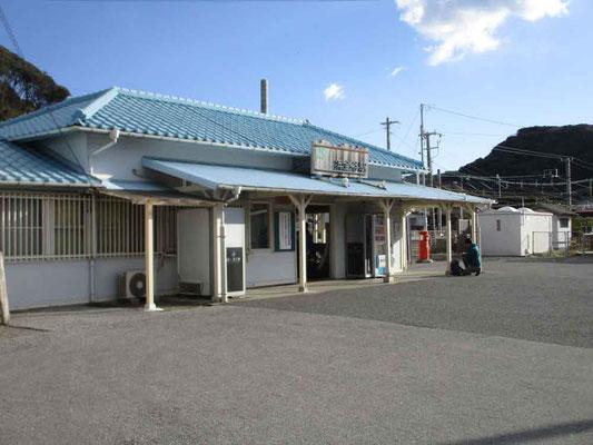 ここから歩き出した浜金谷駅 長閑な房総の駅です