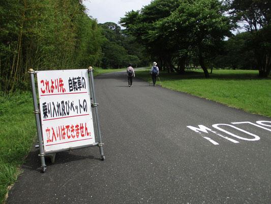 遊歩道の途中にはこんな看板も 規制が厳しくなっていく