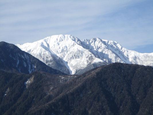 左から農鳥岳