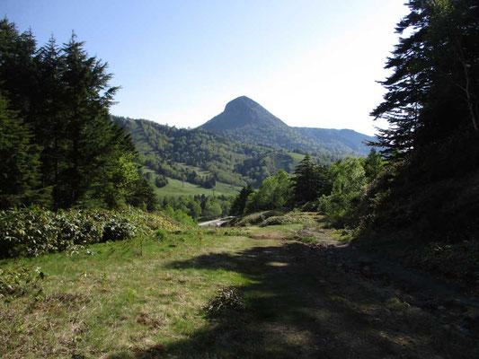 最後の前山からの下りは笠ヶ岳を見ながら、しかし足元は相当悪く荒れたゲレンデ以下の酷さでした