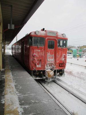おつかれさま 終着釧路駅に到着しました