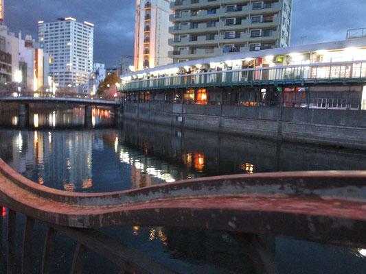 おまけ・・・夜の大岡川沿い 都橋