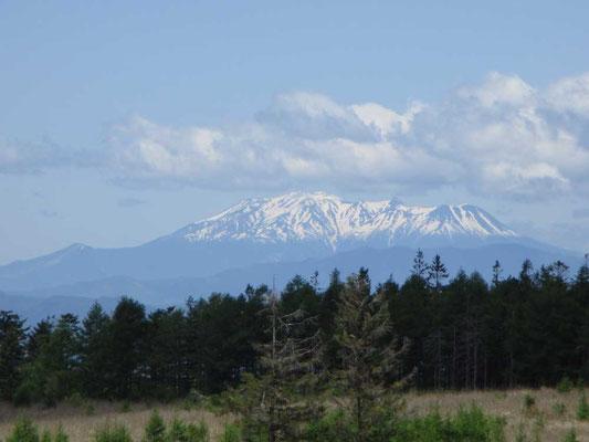 残雪たっぷりの御嶽山が美しく見えました