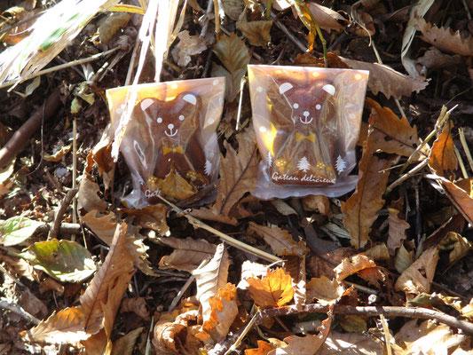 澗満滝展望台にてクマさんのお菓子で朝のティータイム