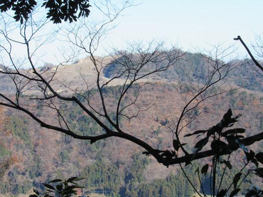西山の採石場 人の多く住む厚木方面の道からは、この情景は見えないようになっています