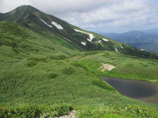 文平ノ池と大日岳
