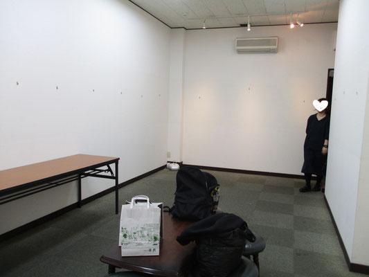作品がなくなった画廊壁面