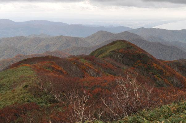 山頂から南方面の眺め