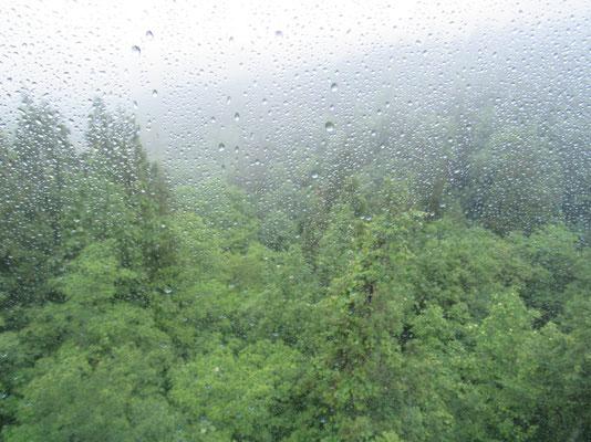 始発のゴンドラの窓には水滴 ガスで煙って視界はなし