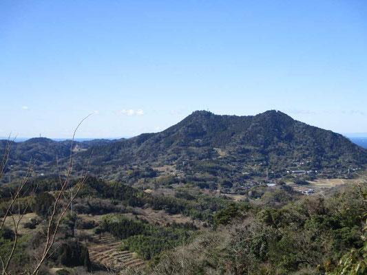 昨年登った富山です 双耳峰となっていてきれいに南峰、北峰が見えます