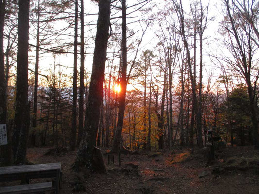下山は夕日が沈み始める頃になりました