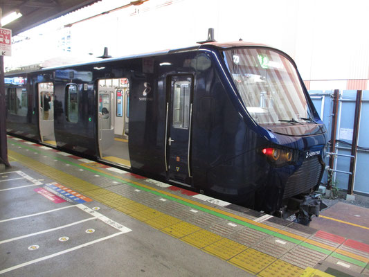 オマケ 海老名駅に停車していた12000系 JR直通新宿行き、JR車両ばかりで相鉄の新車両はなかなかお目にかかれない