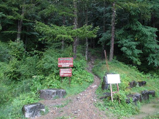 そんなこんなでビシャビシャの登山口に戻りました ザックカバーの中にたくさんの水が溜まっていたのにはビックリでした