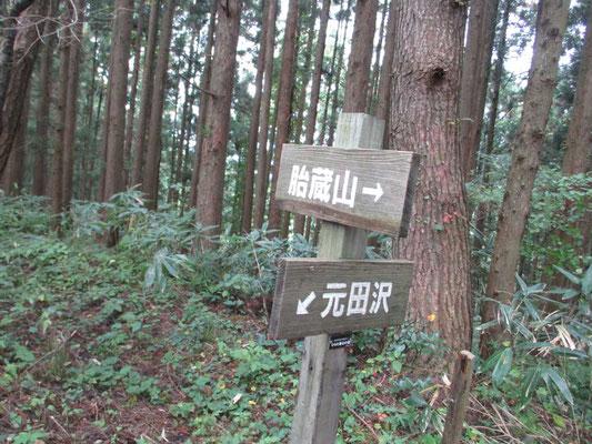 山中にもある標識 しっかりしていて頼りになりました