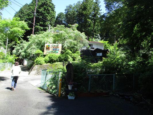 「リッチランド」という施設の露天風呂脇が登山口でした