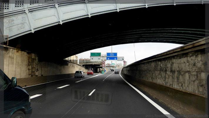 Autobahn durch Lyon-Stadt