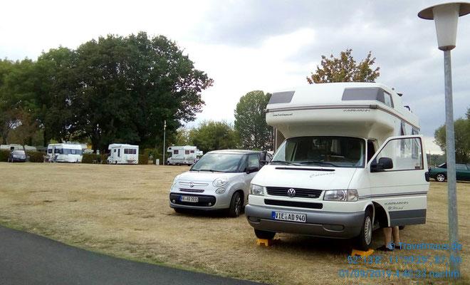 Unser Standplatz auf dem Campingplatz Barlebersee.
