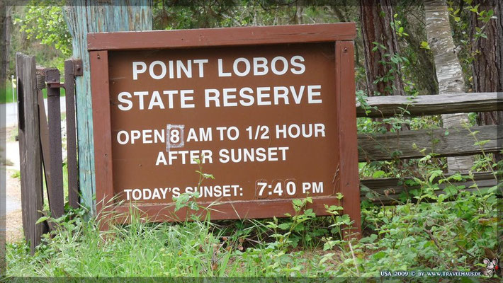 Point Lobos Reserve N 36° 30´ 57.4´´ W 121° 56´16.1 ´´