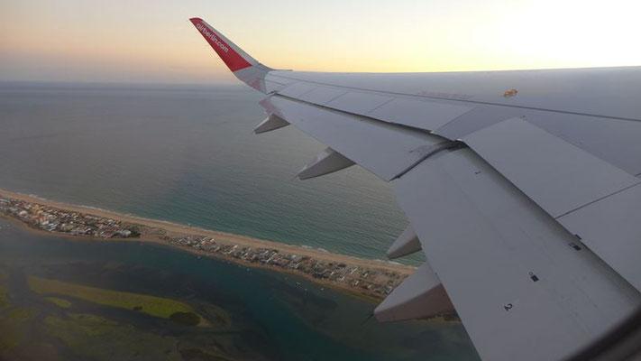 Abflug in Faro