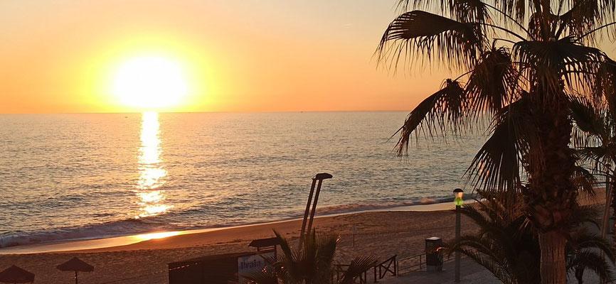 Unser erster Sonnenuntergang...