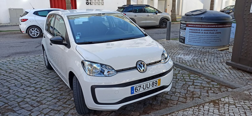 UNser Mietauto VW Up