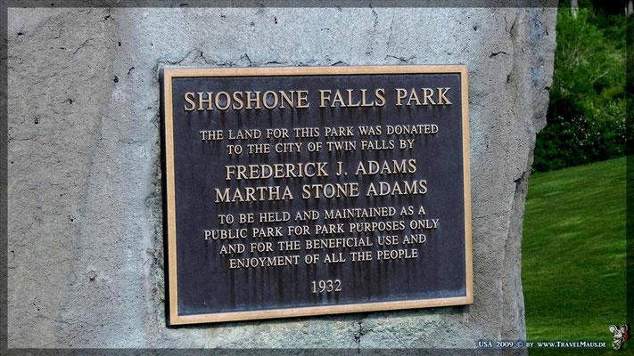 Shoshone Falls Park (3$/Auto)