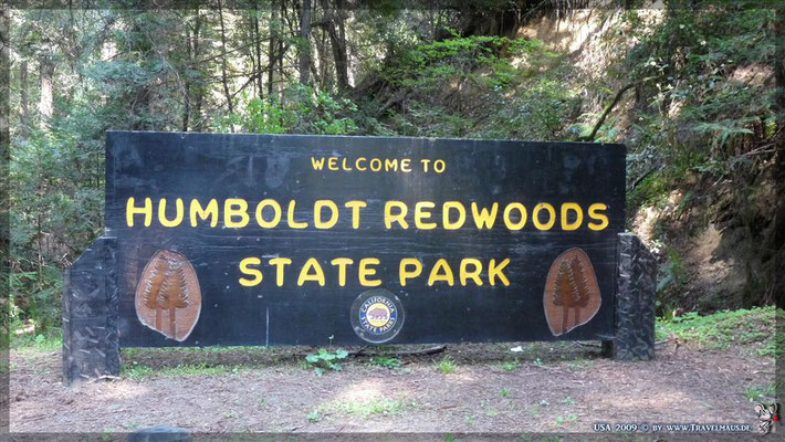 Humboldt Redwoods State Park Visitor Center: N 40° 18´26.6´´ W 123° 54´28.6´´