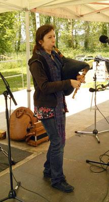 Cathy Castet lors d'un concours de congo