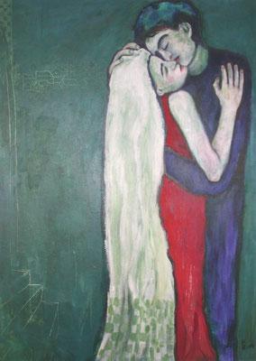 Romeo und Julia II, 2003, Acryl auf Leinwand, 100 x160 cm