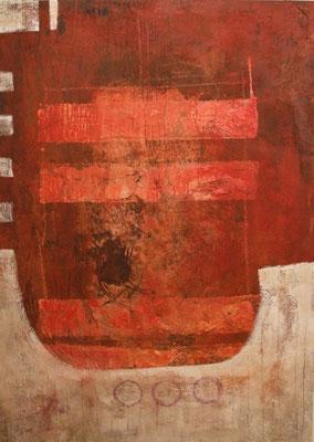 o. T., 2008, Acryl auf Leinwand, 100 x 140 cm