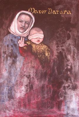 Mater Natura, 2001, Acryl auf Holz, 110 x 160 cm