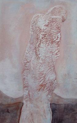 Zyklus Merry Maiden, Morgan, 2001, Acryl auf Holz, 100 x 160 cm