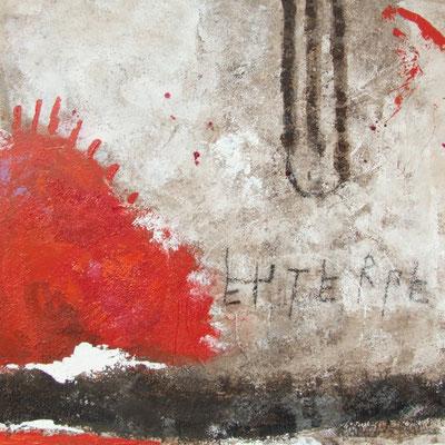 Euterpe, Teil der neun Musen, 2008, Acryl auf Leinwand, 50 x 50 cm