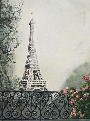 """""""Paris"""" Acryl auf Leinwand (Keilrahmen) 30x40 cm. Verschenkt."""