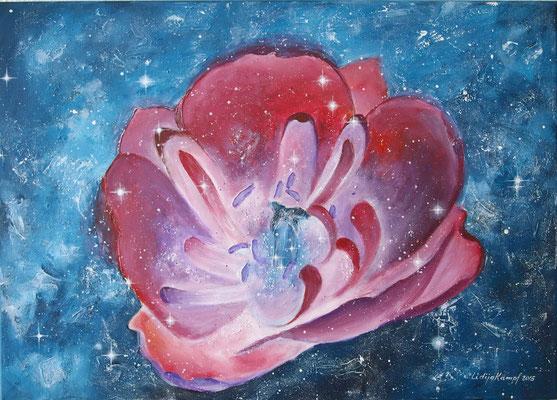 """Geburt der Sterne"" Acryl auf Leinwand (Keilrahmen) 50x70 cm"