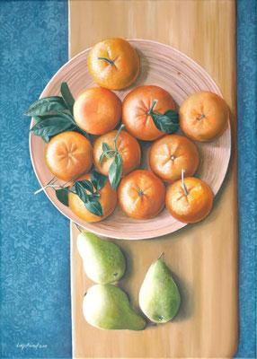 "Mandarinen"" Acrylfarbe auf Leinwand (Keilrahmen) 50x70 cm"