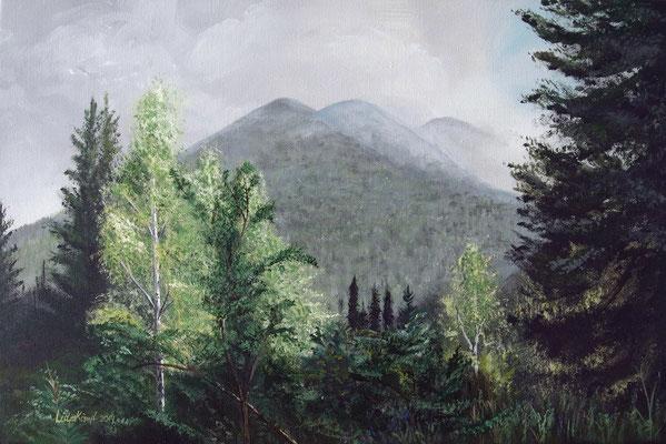 """""""Sibirien"""" Acryl auf Leinwand (Keilrahmen) 40x60 cm"""
