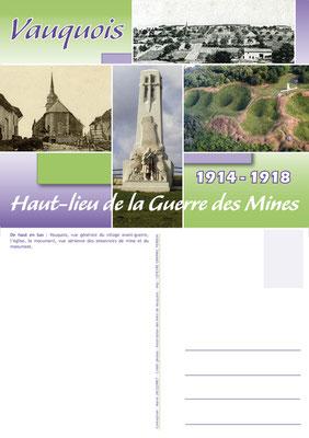 """Carte postale réalisée pour l'association """"Les Amis de Vauquois"""" - Butte de Vauquois"""