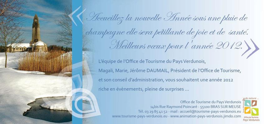 Carte de voeux 2012 pour l'Office de Tourisme du Pays Verdunois