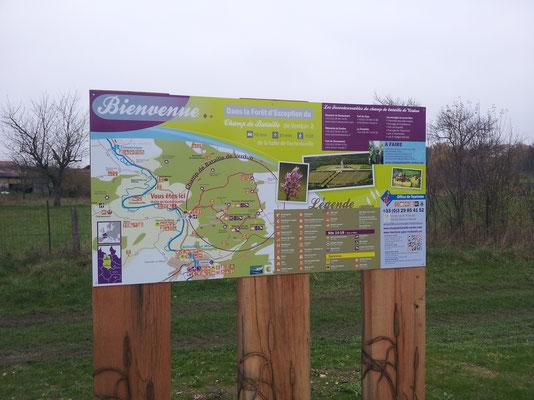 Panneau pour halte fluviale de Vacherauville de 1 m x 2 m