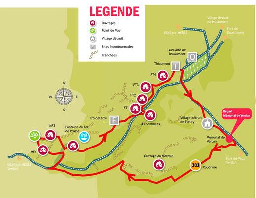 Circuit VTT sur le champ de bataille de Verdun - pour l'ASPTT de Verdun