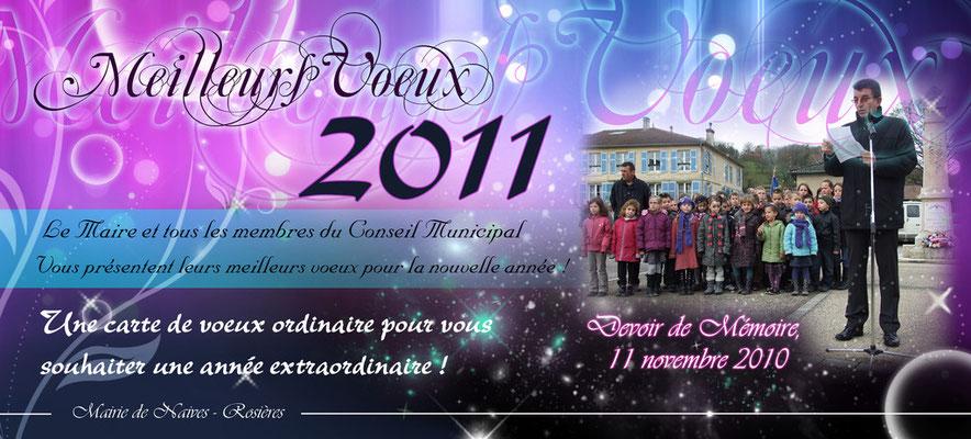 Carte de Voeux 2011 realisée pour la commune de Naives-Rsoières