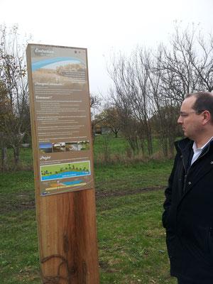Panneau pour halte fluviale de Vacherauville de 1 m x 40 cm