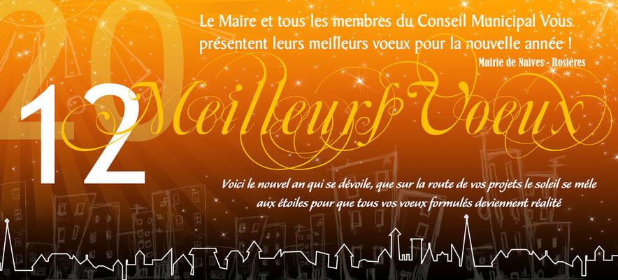 Carte de Voeux 2012 realisée pour la Mairie de Naives-Rosières