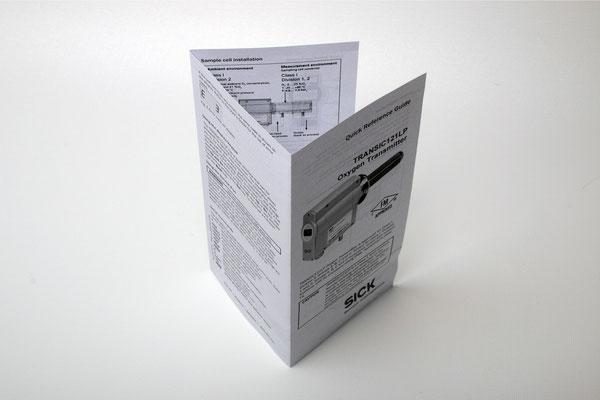 Digitaldruck Gebrauchsanweisung Falt S/W