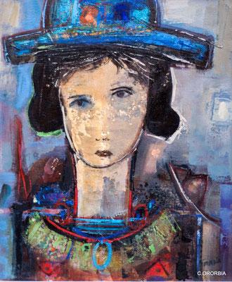"""Reflexiones a media tarde""  (55 x 46 cm)"