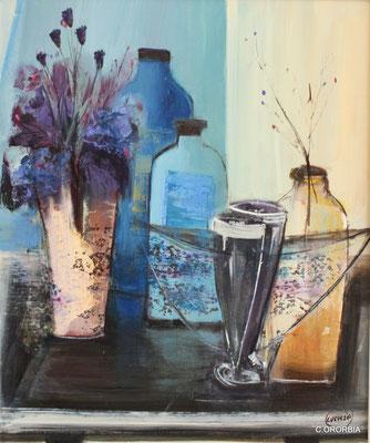 """Bodegón azul""  (55 x 46 cm)"