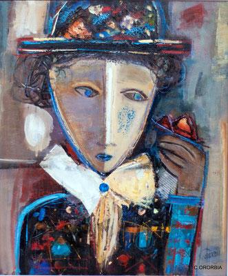 """Cruce de miradas""  (55 x 46 cm)"