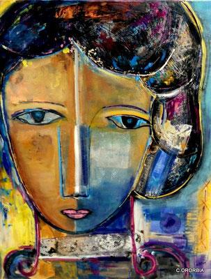 """""""Determinación""""  (100 x 81 cm)"""
